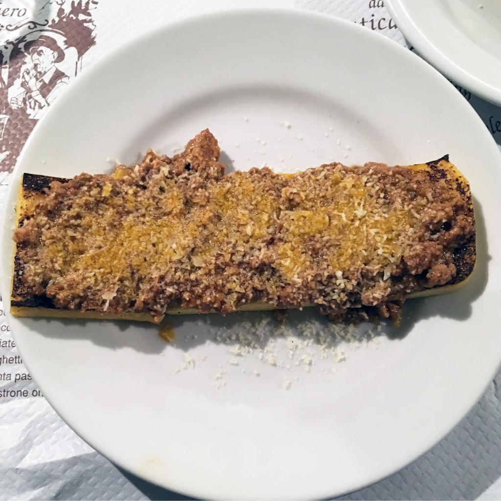 The Meat Project - Ragu - Minced Beef - Rind - Polenta pasticciata - Antica Osteria al Bachero - Spilimbergo