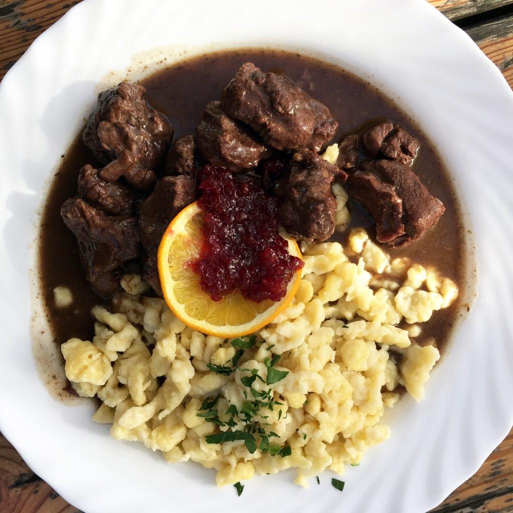 The Meat Project - Venison Ragout. Hirschragout - Schutzhaus Zukunft auf der Schmelz Vienna Wien