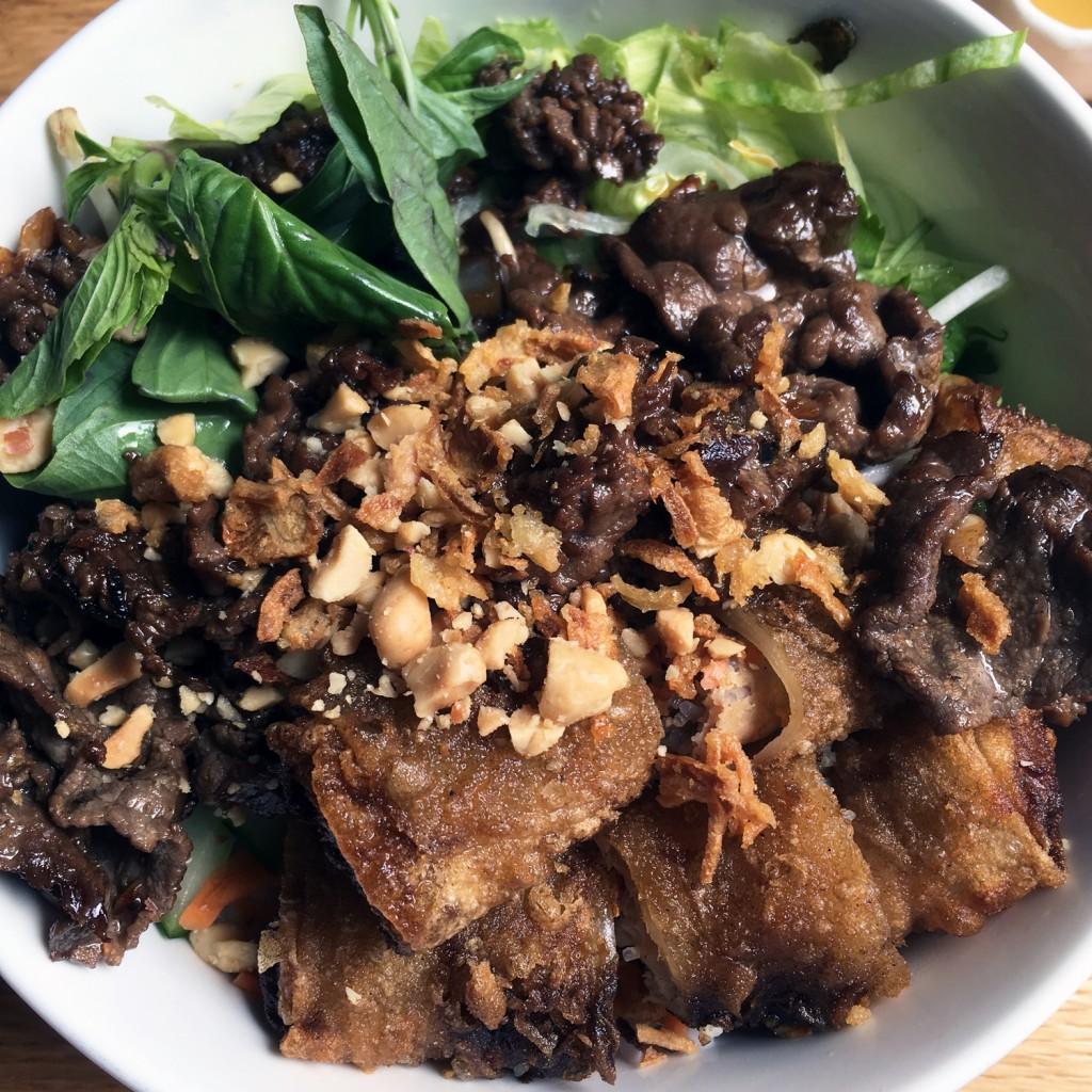 The Meat Project - le pho - Bun Bo Cha Gio Xao Xa. Bun Bo Cha Gio Xao Xa - beef Rind