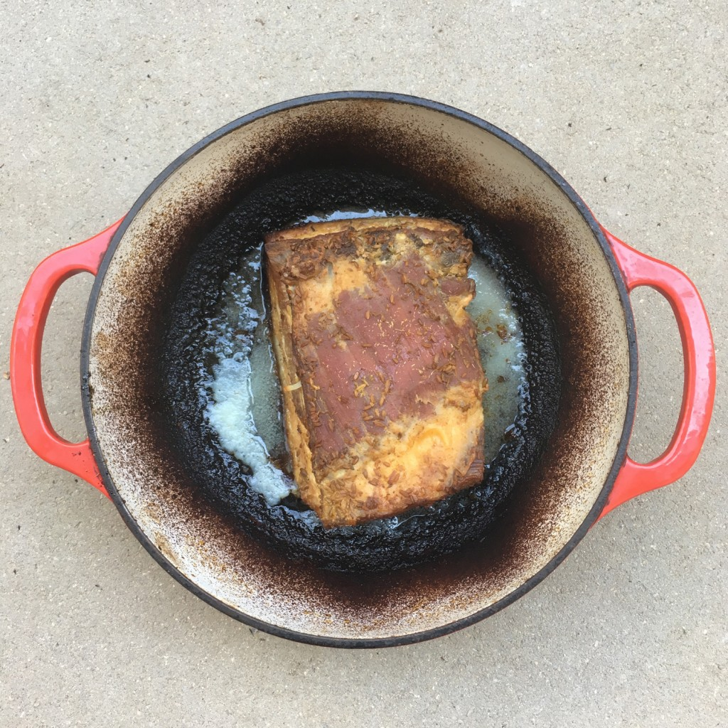 The Meat Project - pork belly - Schweinebach - brined and BBQ - Grill